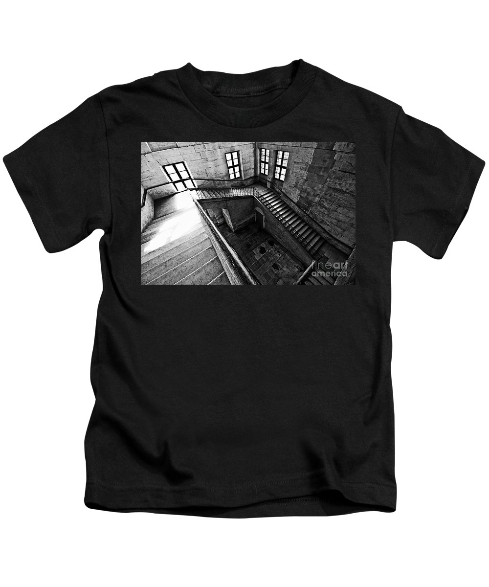 Stairs Kids T-Shirt featuring the photograph One Step At A Time by Charuhas Images