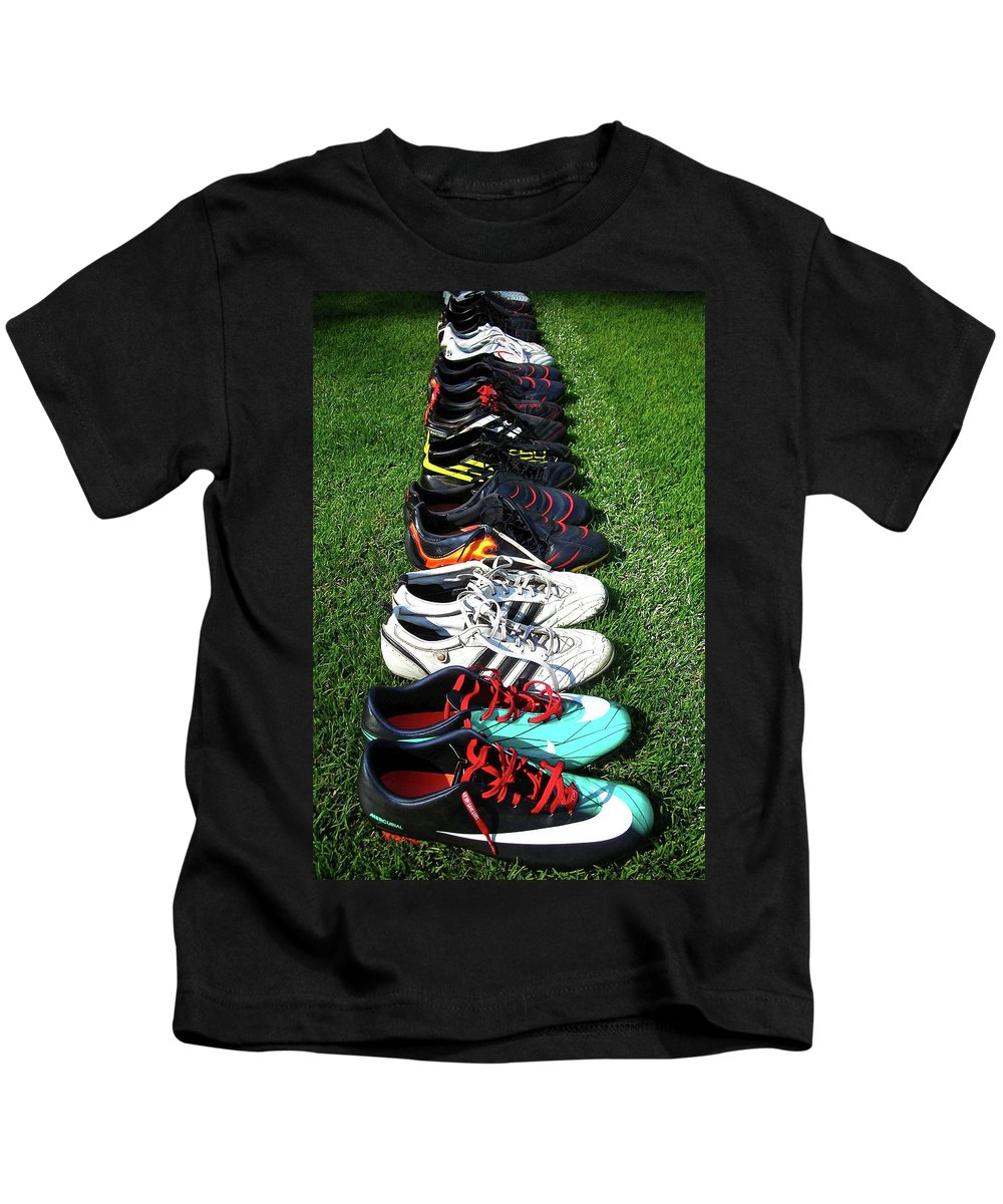Soccer Kids T-Shirt featuring the photograph One Team ... by Juergen Weiss