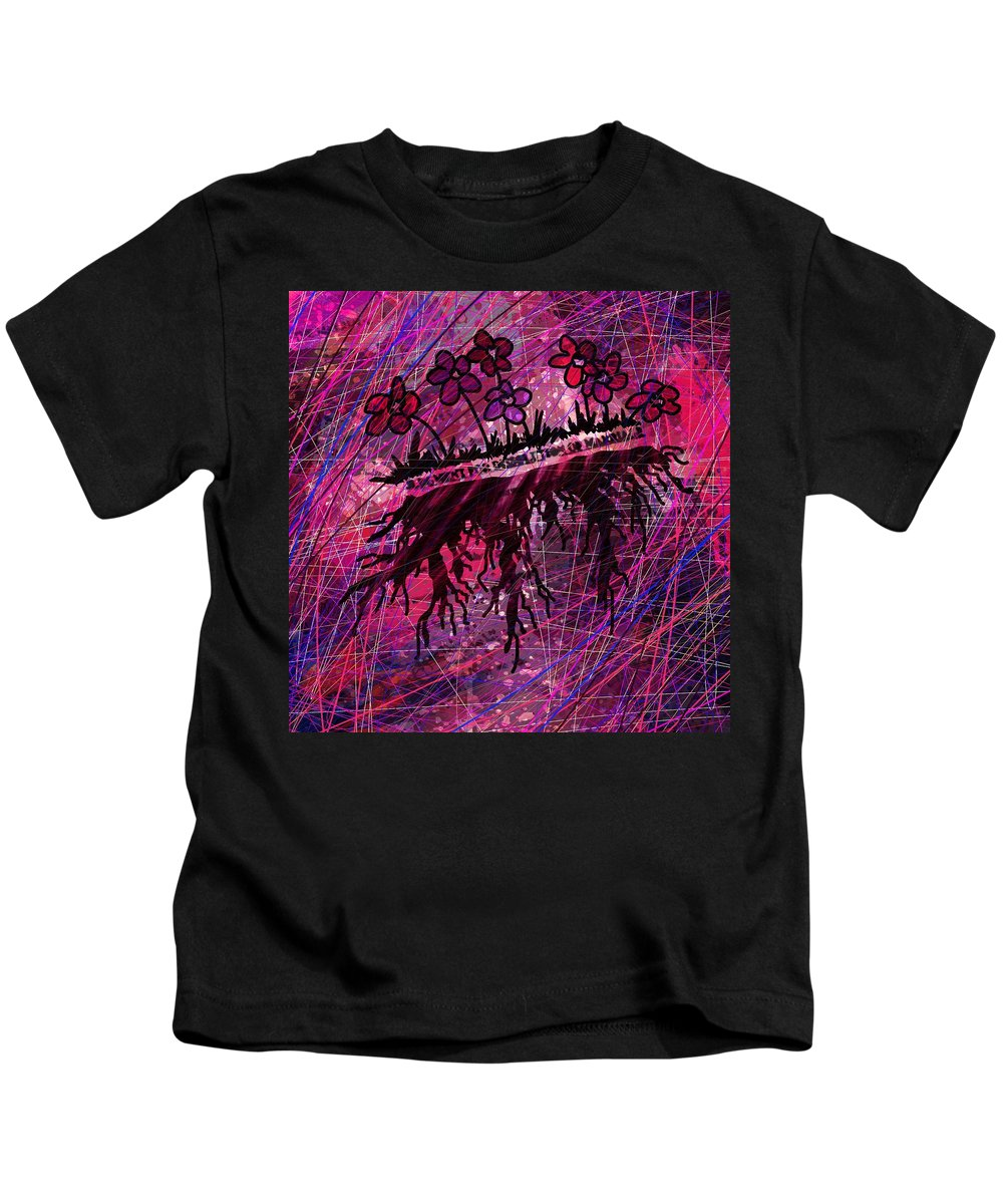 Abstract Kids T-Shirt featuring the digital art Only A Piece Of Paper by Rachel Christine Nowicki