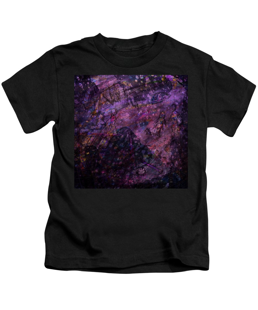 Abstract Kids T-Shirt featuring the digital art Only Memories by Rachel Christine Nowicki