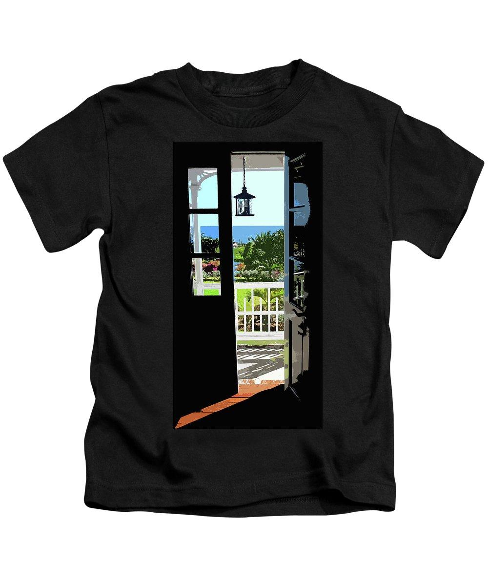 Door Kids T-Shirt featuring the photograph Open Door by Ian MacDonald