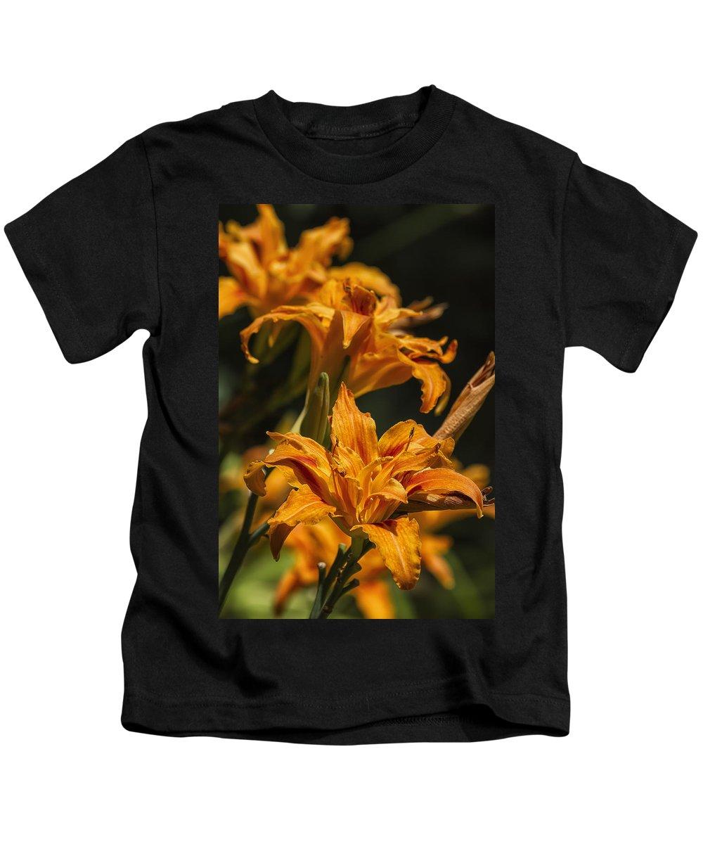 Daylily Kids T-Shirt featuring the photograph Orange Daylily by Belinda Greb