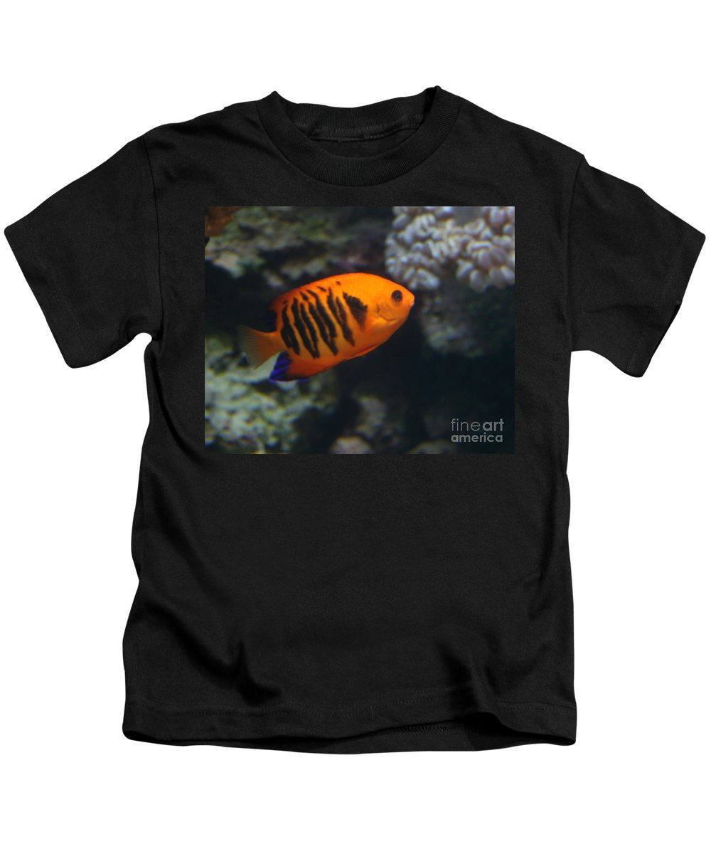 Orange Kids T-Shirt featuring the photograph Orange Fish by Dawn Downour