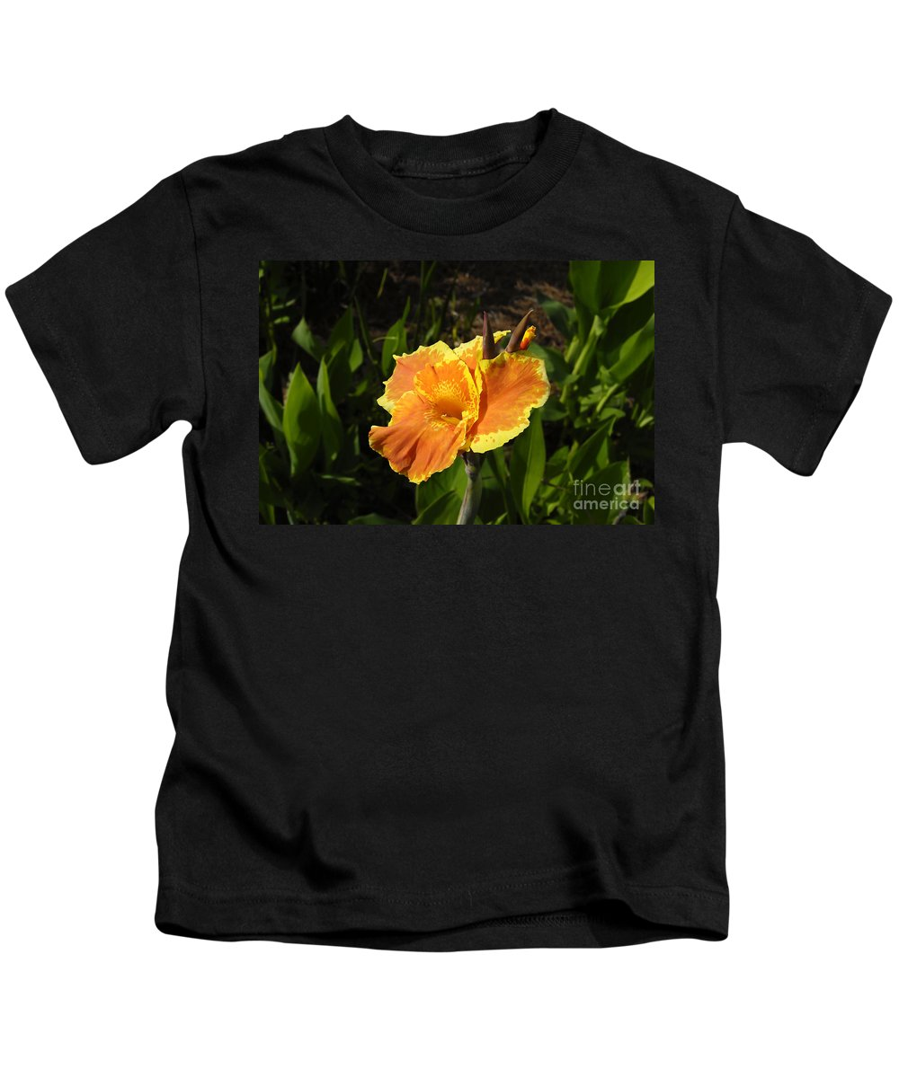Flower Kids T-Shirt featuring the photograph Orange Flower by David Lee Thompson