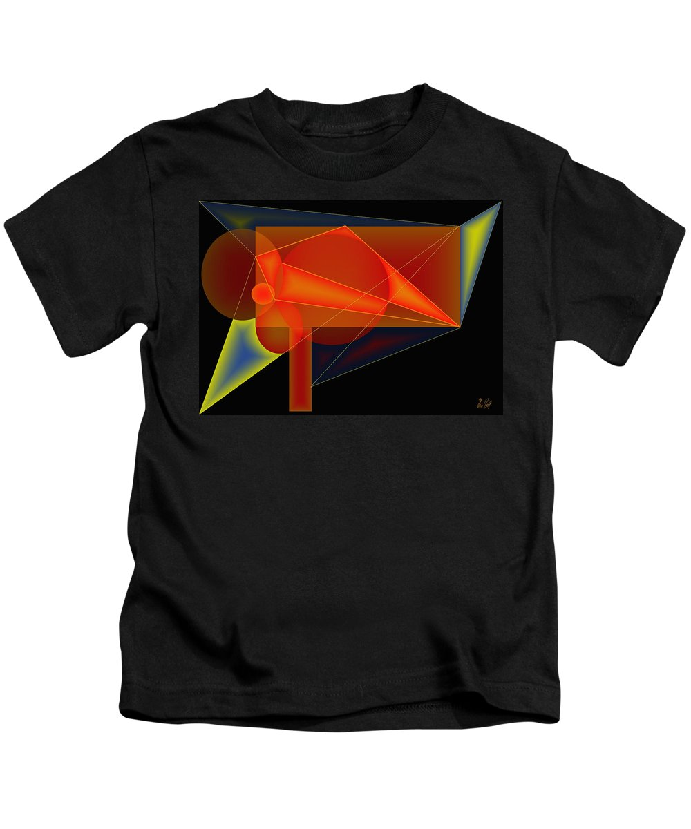 Orange Kids T-Shirt featuring the digital art Orange Mechanics by Helmut Rottler