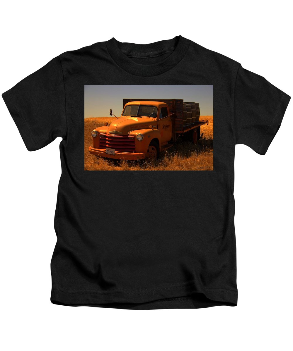 Orange Sunshine Kids T-Shirt featuring the photograph Orange Sunshine by Edward Smith