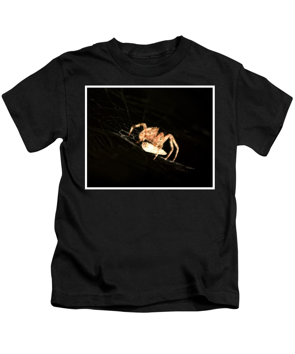 Spider Kids T-Shirt featuring the photograph Orb Spider by Anthony Jones