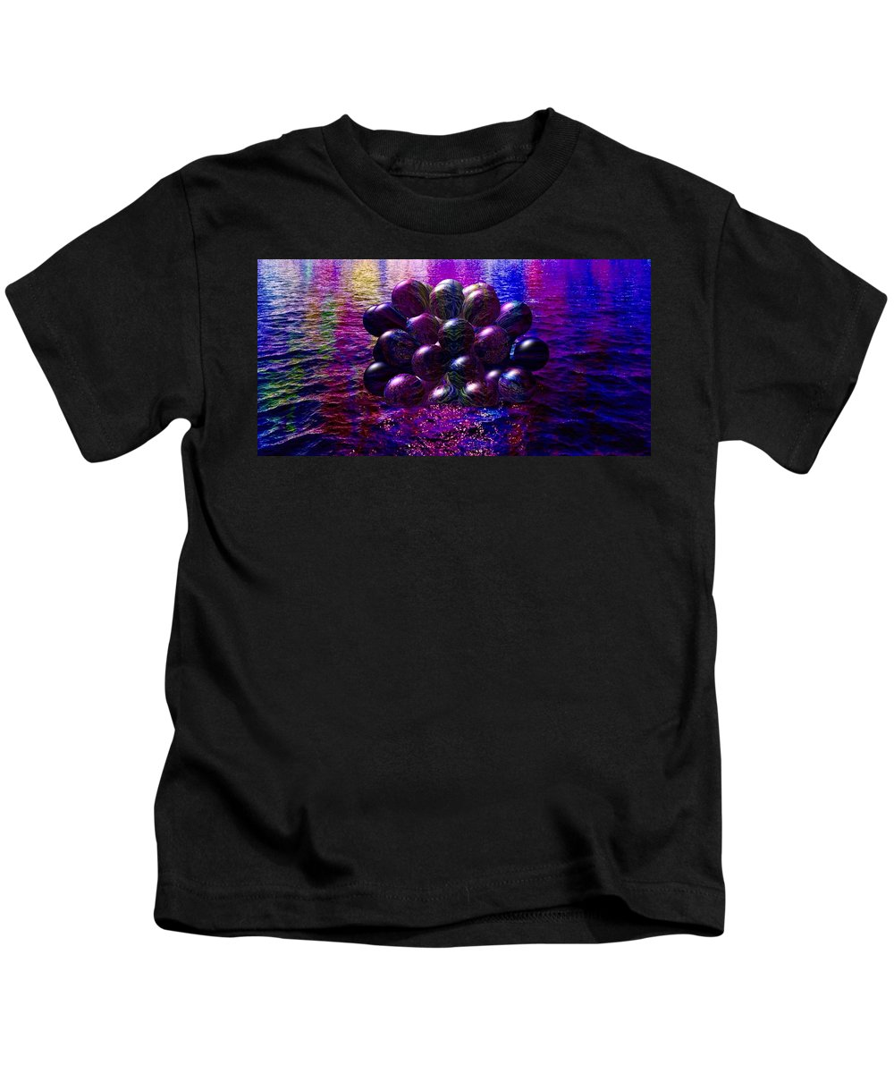 orbs In The Water Kids T-Shirt featuring the painting Orbs In The Water by Mark Taylor