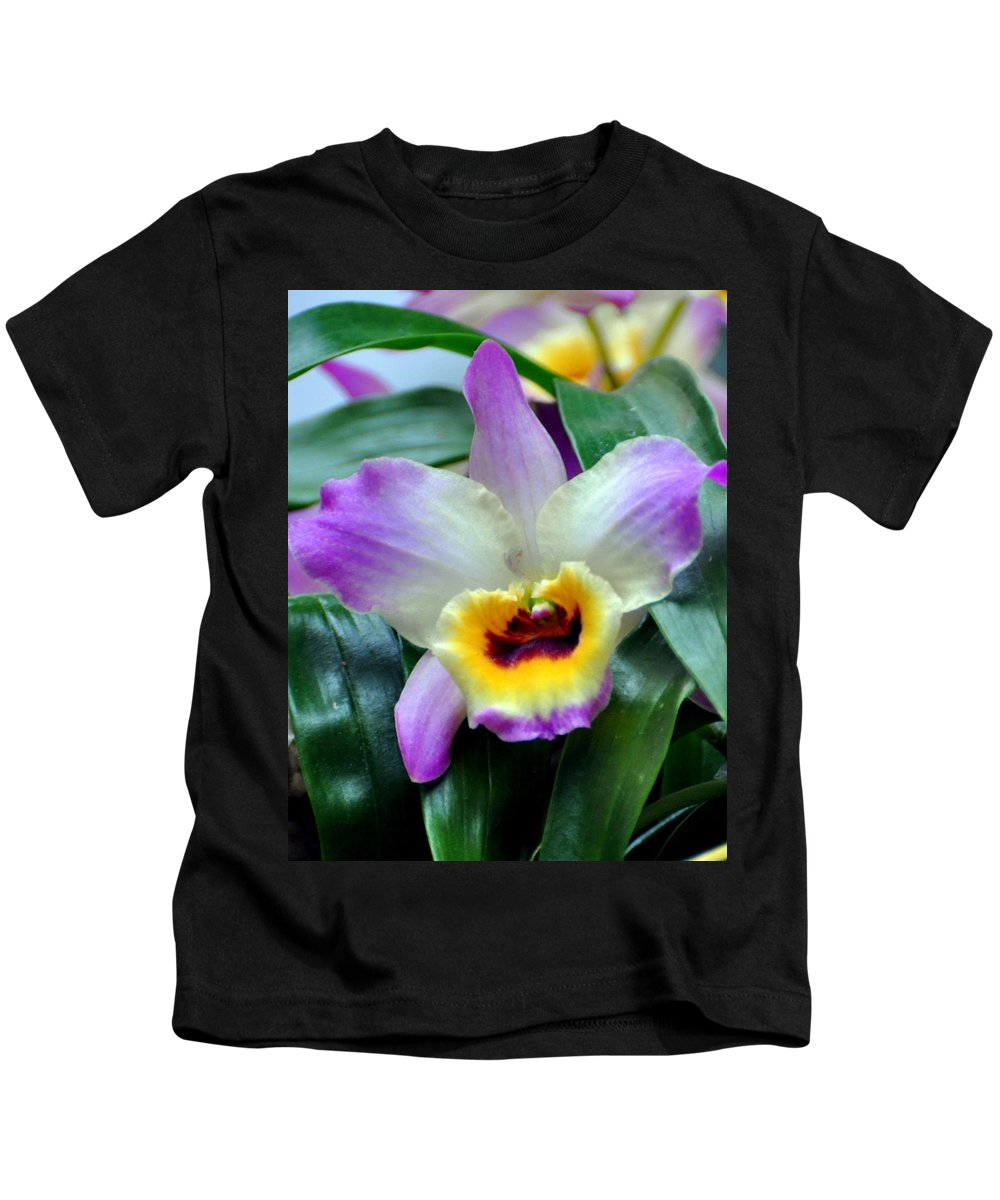 Orchid Kids T-Shirt featuring the photograph Orchid 34 by Marty Koch