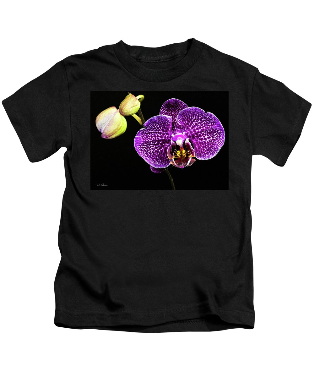 Orchid Kids T-Shirt featuring the photograph Orchid by Christopher Holmes