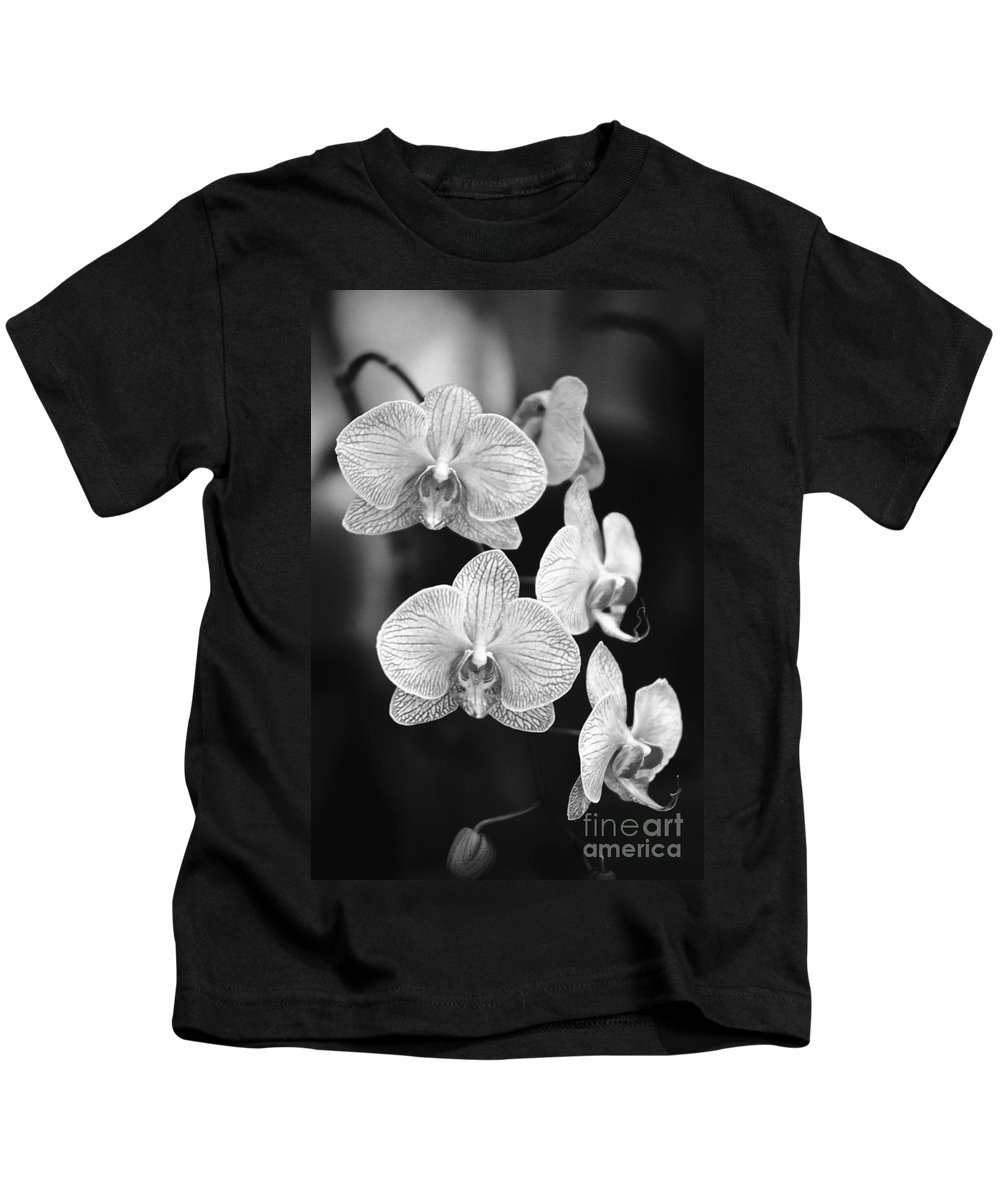 26-csm0095 Kids T-Shirt featuring the photograph Orchid Cluster Close-up by Allan Seiden - Printscapes