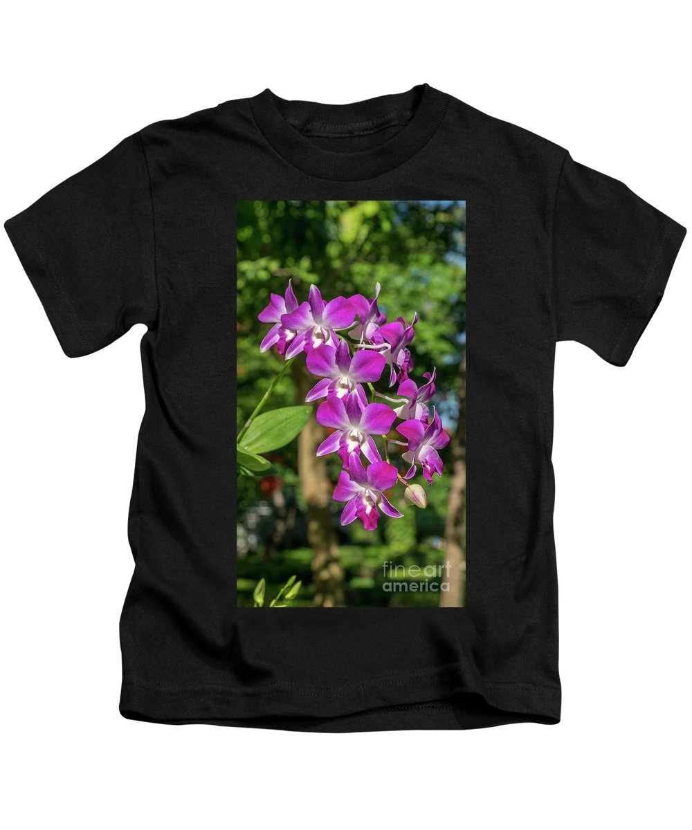 Orchid Kids T-Shirt featuring the photograph Orchid by Que Siam