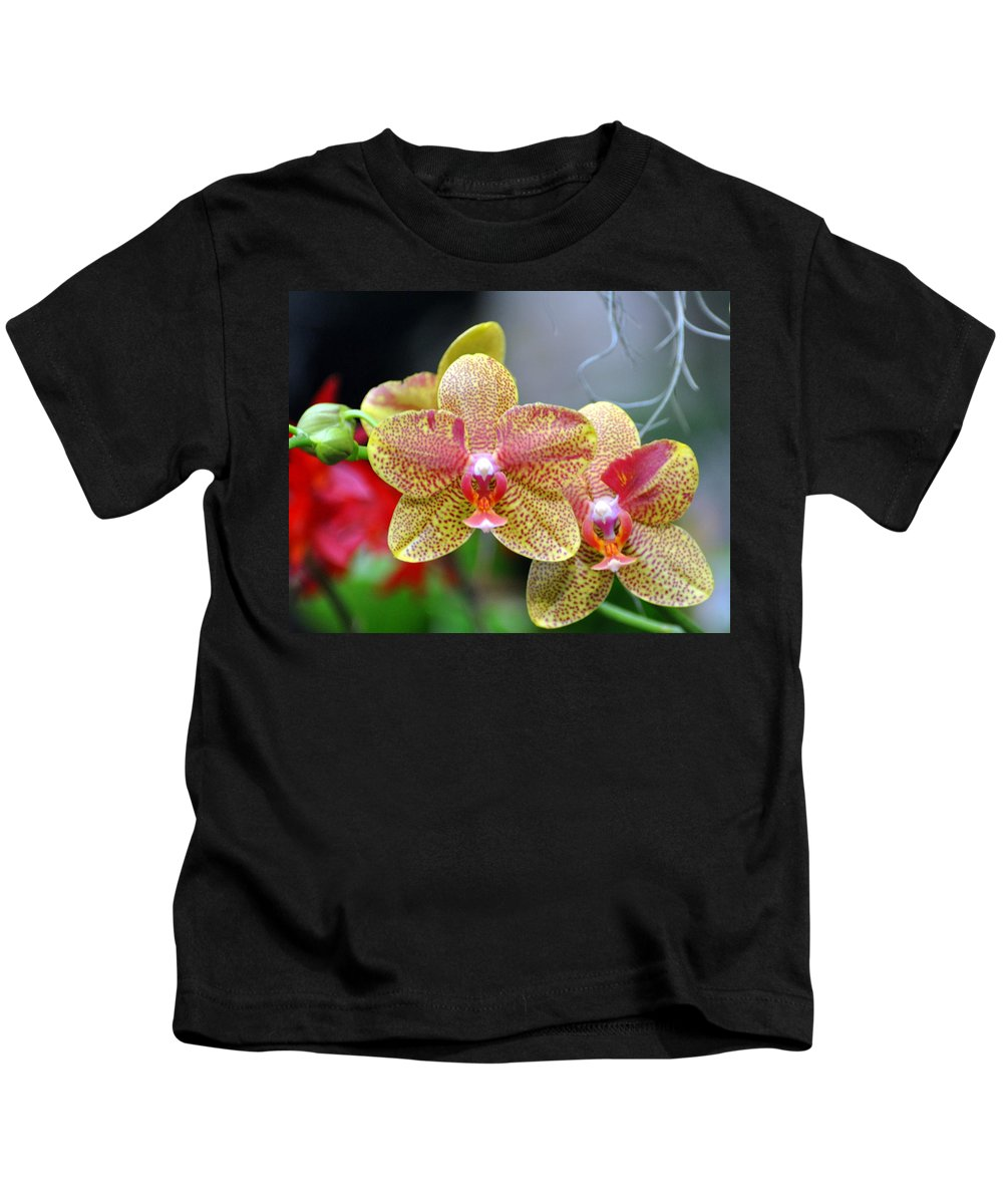 Orchidsflowers Kids T-Shirt featuring the photograph Orchids 35 by Marty Koch