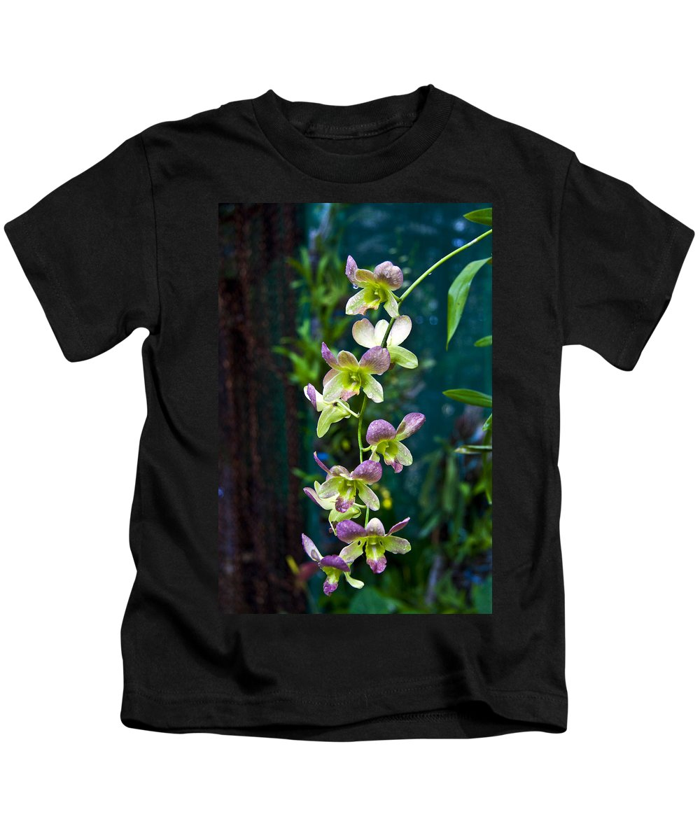 Nature Kids T-Shirt featuring the photograph Orchids by George Cabig