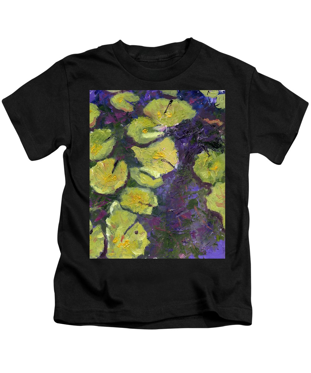 Abstract Kids T-Shirt featuring the painting Orlando Lilies by Diane Martens