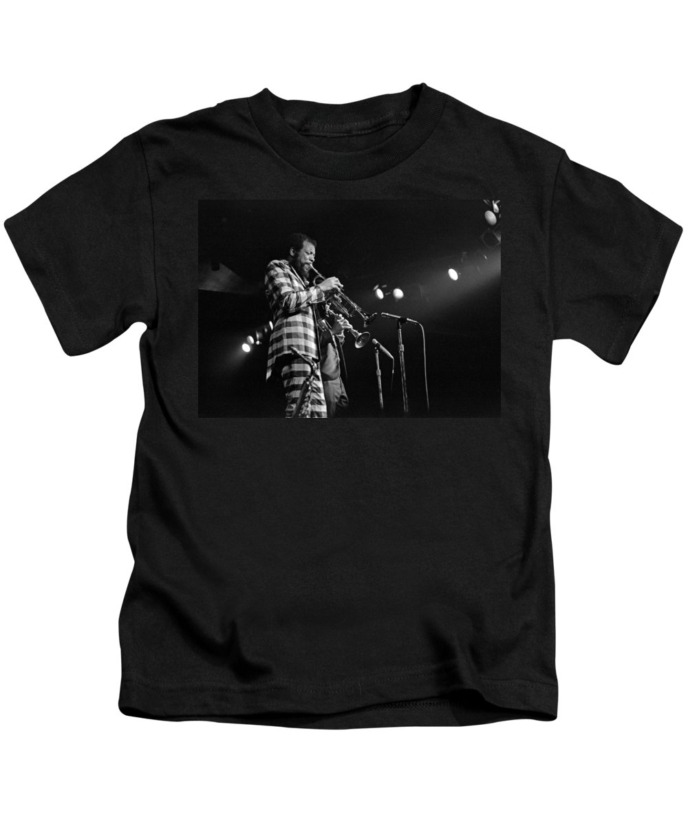 Ornette Colman Kids T-Shirt featuring the photograph Ornette Coleman On Trumpet by Lee Santa