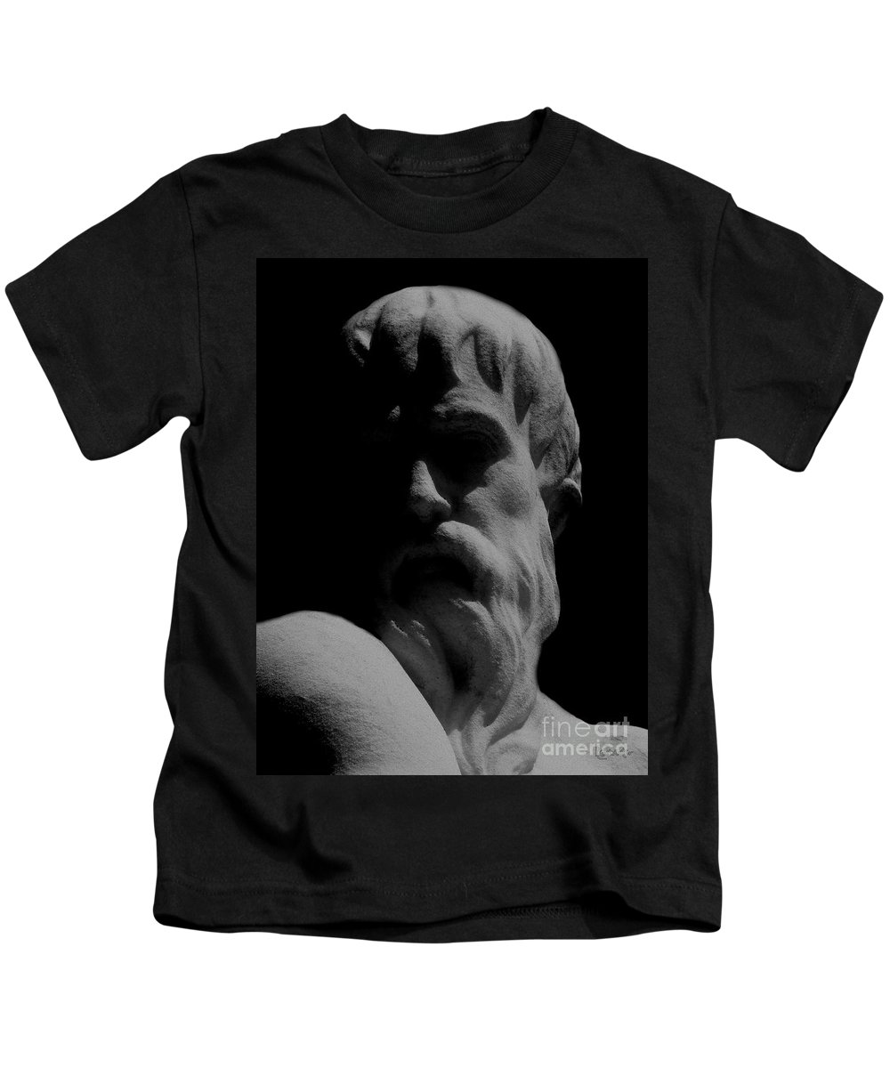 Black And White Kids T-Shirt featuring the photograph Orpheus Looks Back by RC DeWinter