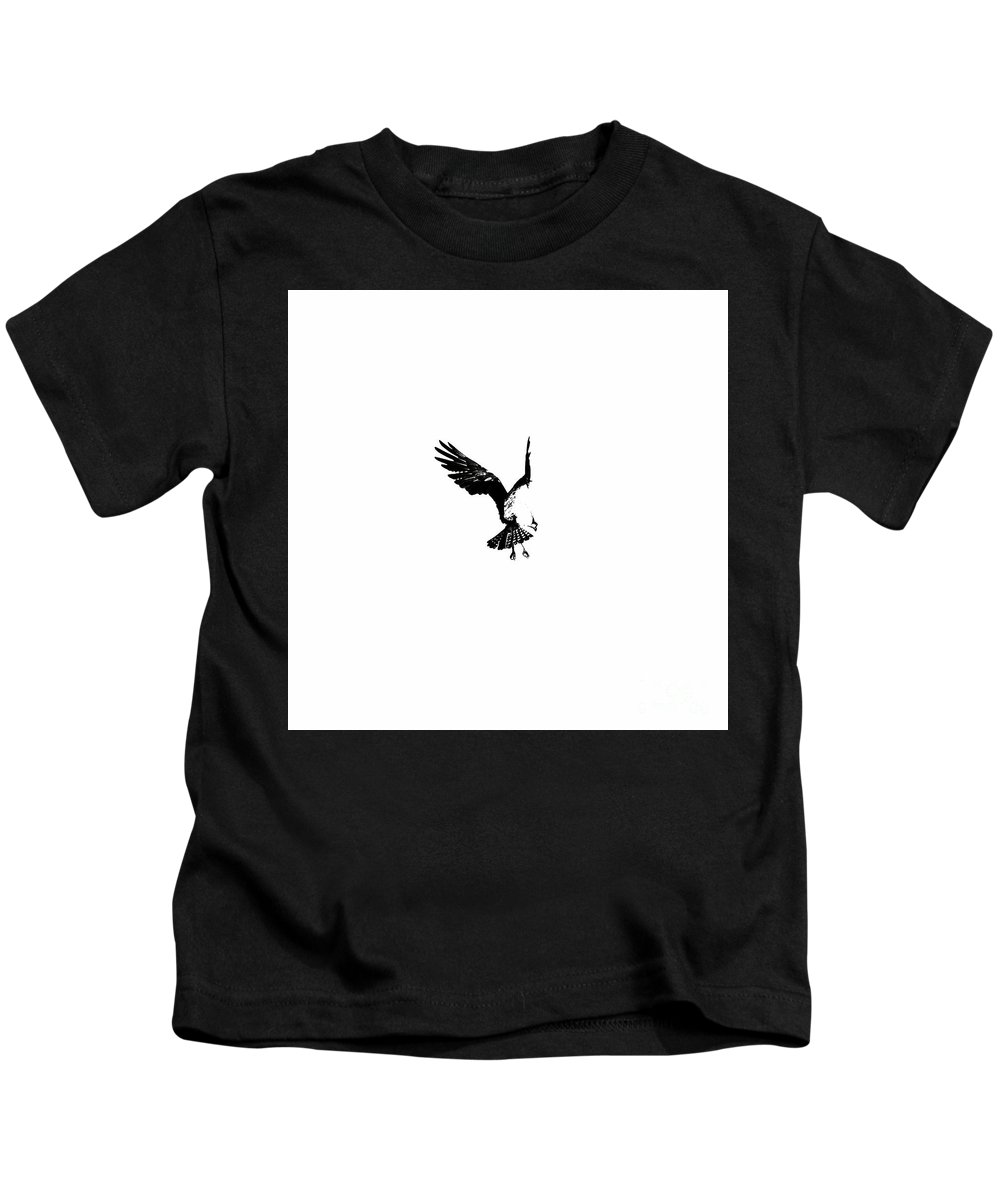 Osprey Kids T-Shirt featuring the photograph Osprey Hover by Rachel Morrison