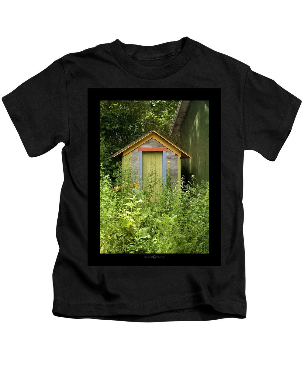Outhouse Kids T-Shirt featuring the photograph Outhouse by Tim Nyberg