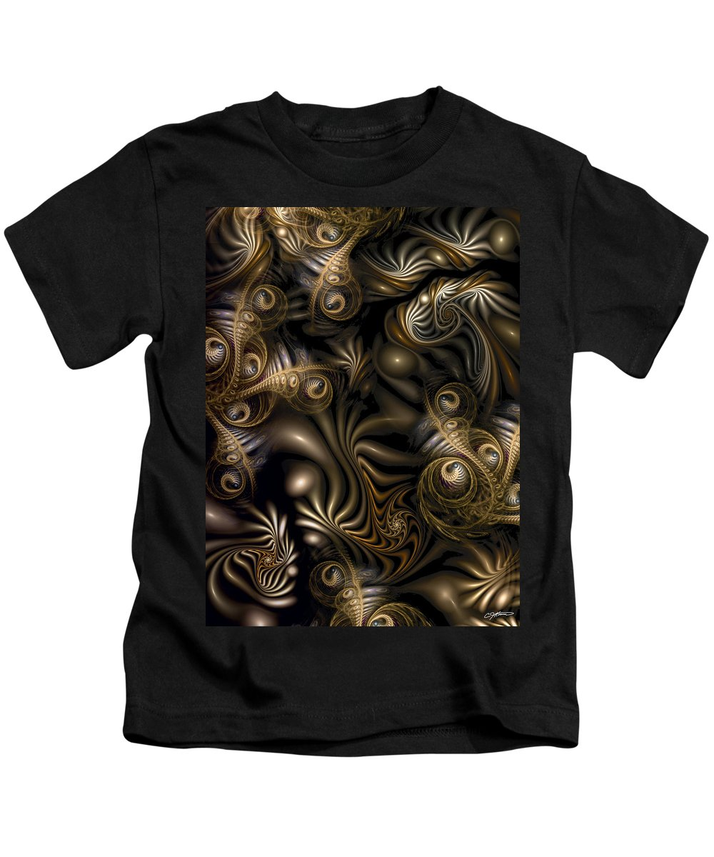 Abstract Kids T-Shirt featuring the digital art Overrun by Casey Kotas