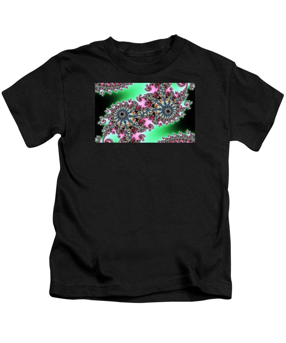 Abstract Art Kids T-Shirt featuring the digital art Owl Eyes by John Welles
