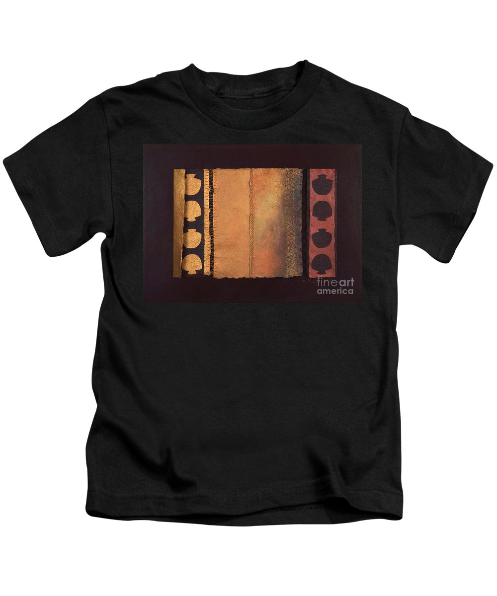 Artistbook Kids T-Shirt featuring the painting Page Format No.4 Tansitional Series by Kerryn Madsen-Pietsch