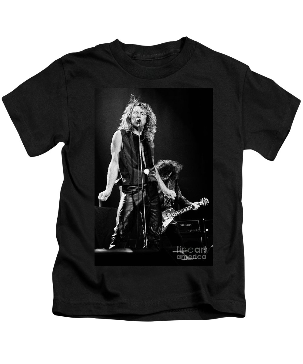 Robert Plant Kids T-Shirt featuring the photograph Page N Plant-0068 by Timothy Bischoff