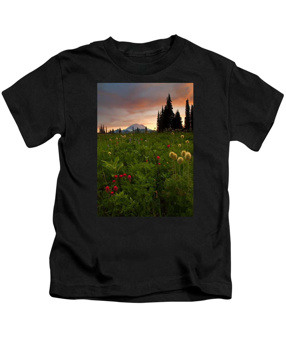 Sunset Kids T-Shirt featuring the photograph Paintbrush Sunset by Mike Dawson