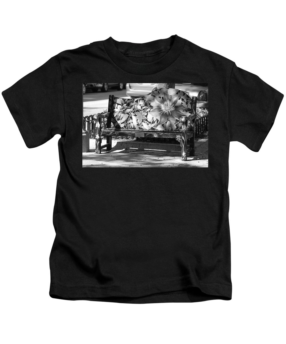 Pop Art Kids T-Shirt featuring the photograph Painted Bench by Rob Hans