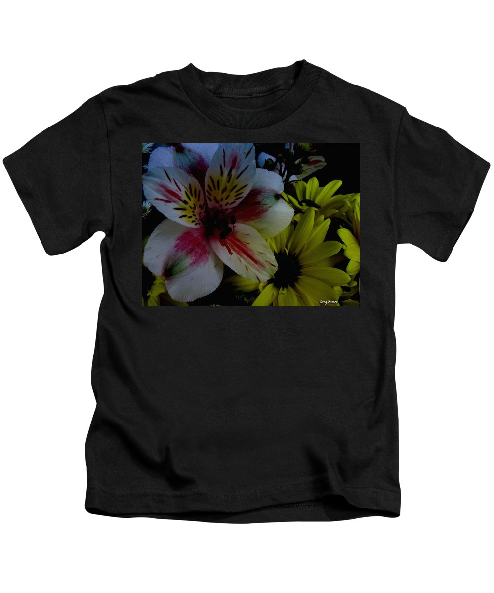 Art For The Wall...patzer Photography Kids T-Shirt featuring the photograph Painted Lily by Greg Patzer