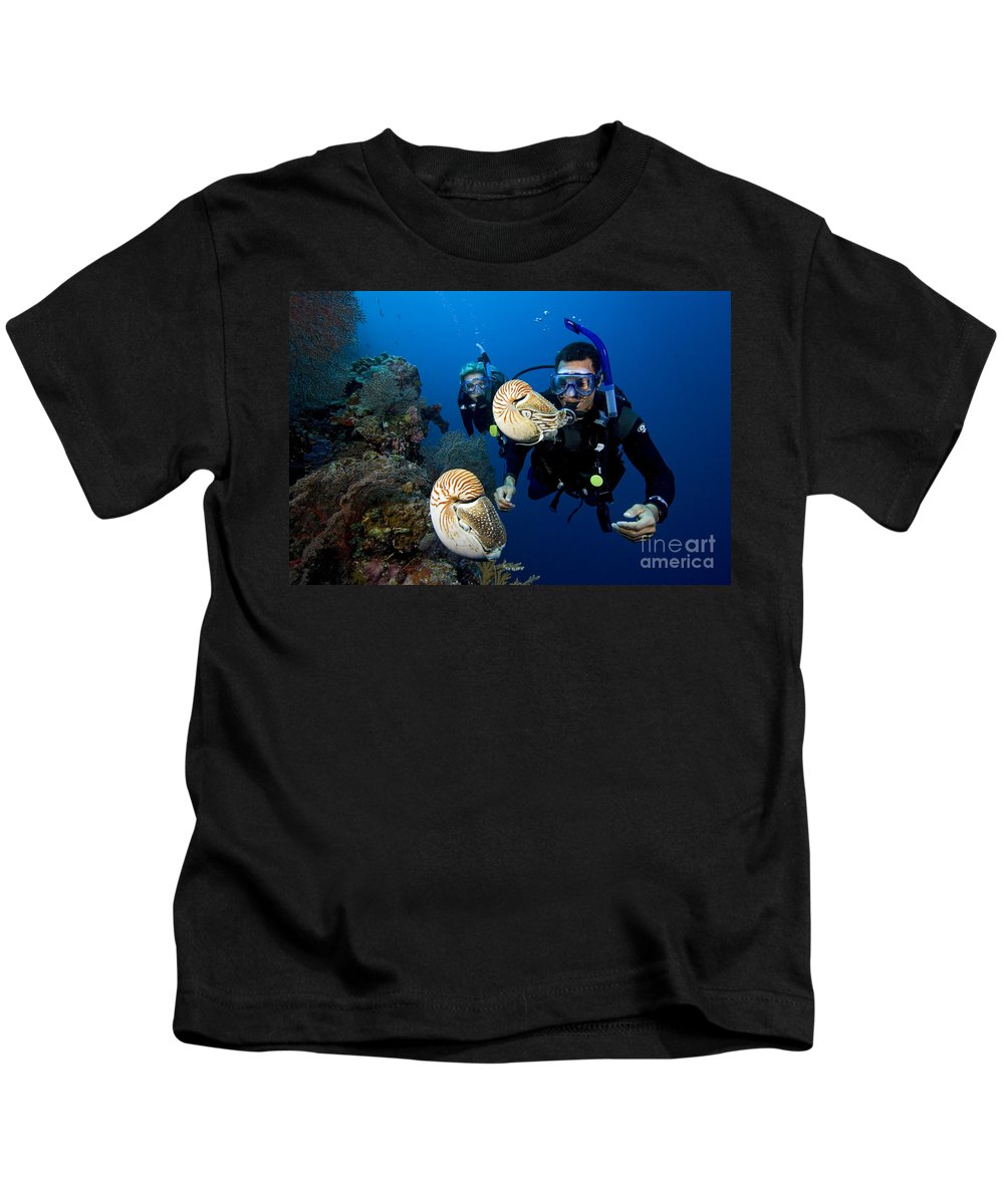 Adventure Kids T-Shirt featuring the photograph Palau Underwater by Dave Fleetham - Printscapes