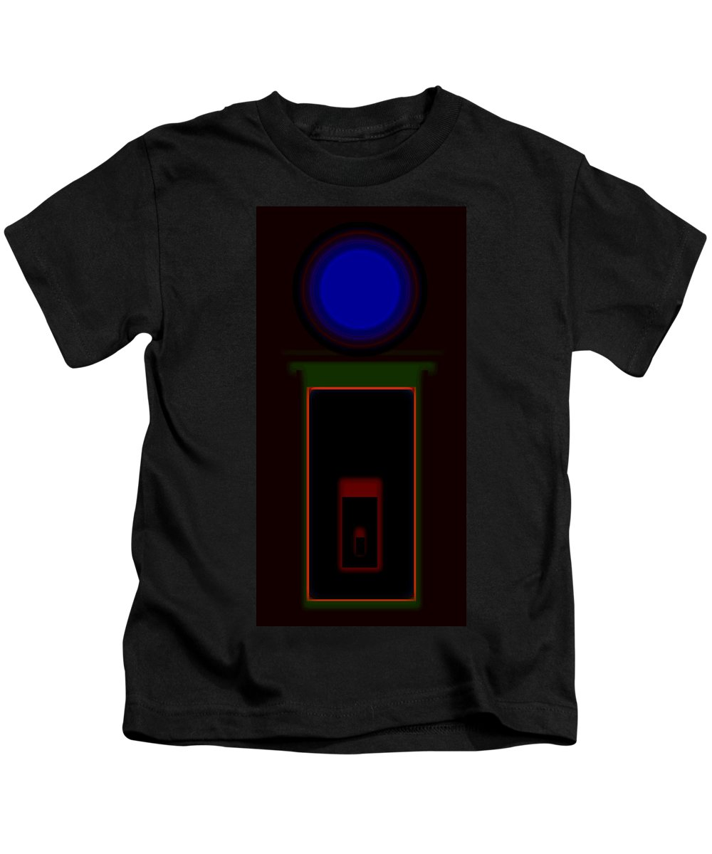 Palladian Kids T-Shirt featuring the painting Palladian Night by Charles Stuart