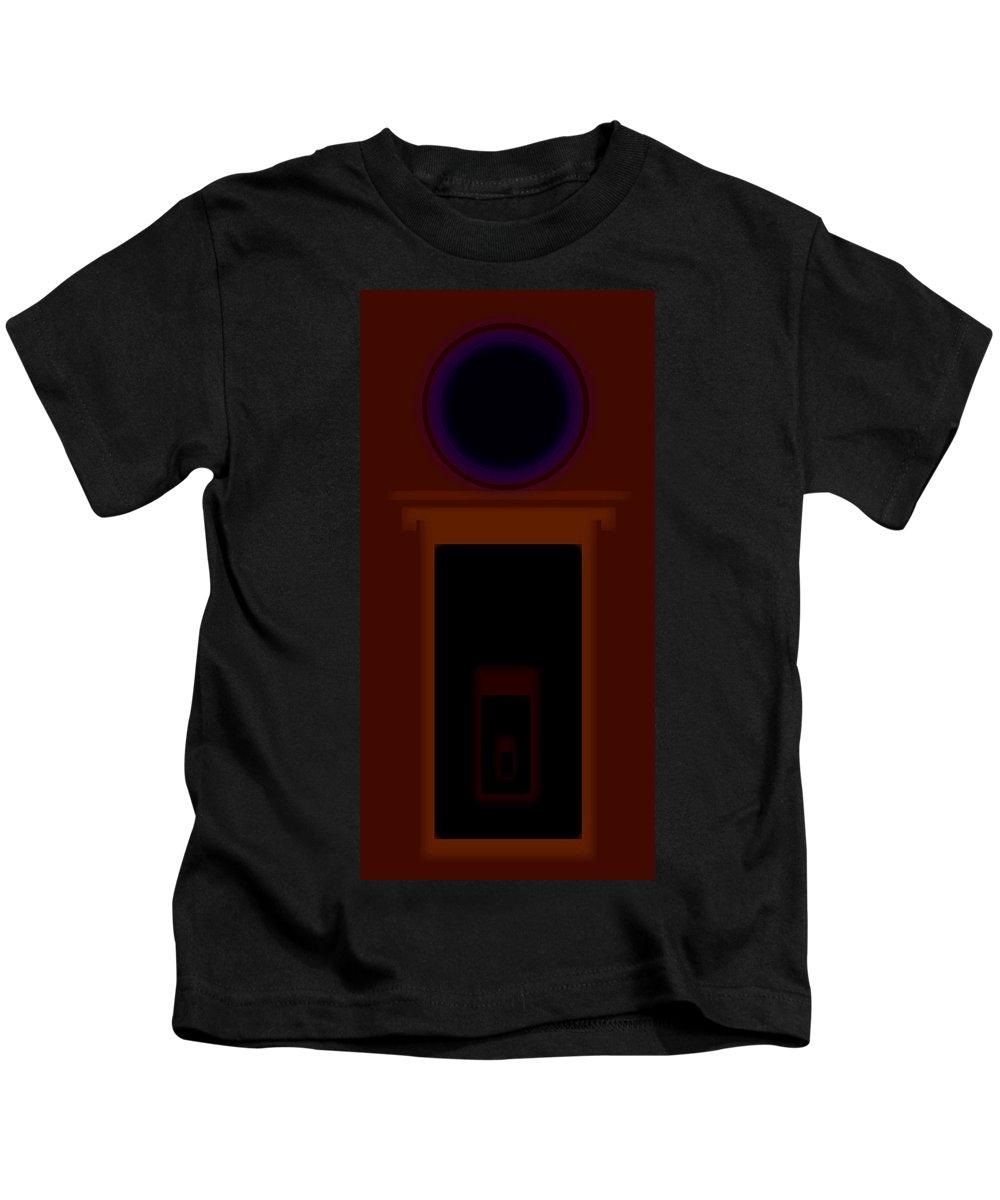Palladian Kids T-Shirt featuring the painting Palladian Orange by Charles Stuart