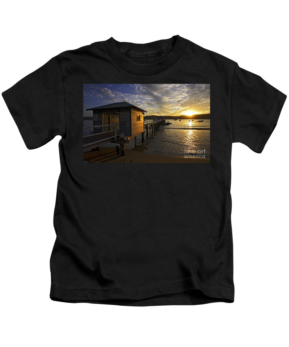 Palm Beach Sydney Australia Sunset Water Pittwater Kids T-Shirt featuring the photograph Palm Beach Sunset by Sheila Smart Fine Art Photography