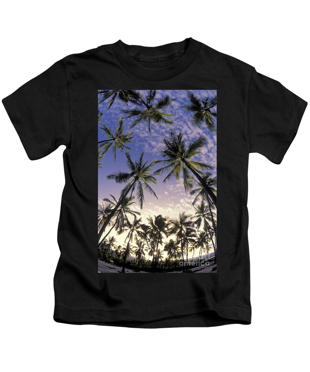 Afternoon Kids T-Shirt featuring the photograph Palm Tree Grove by Greg Vaughn - Printscapes