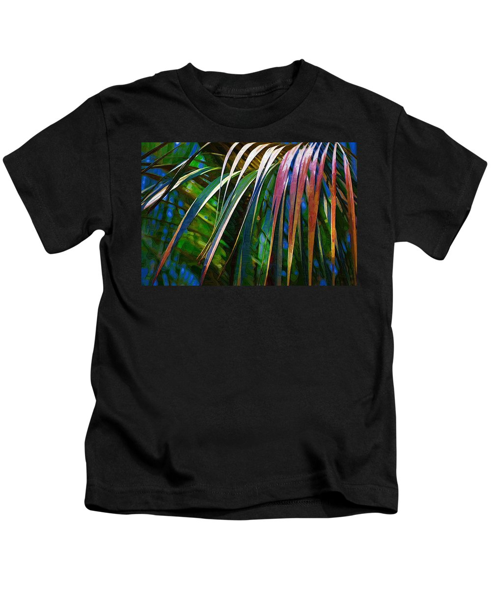 Leaves Kids T-Shirt featuring the photograph Palms by Donna Bentley