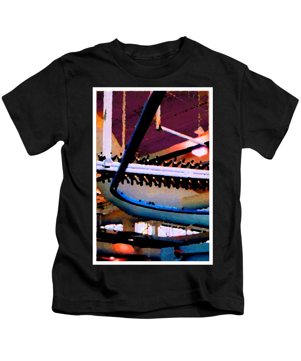 Abstract Kids T-Shirt featuring the photograph Panel Three From Star Factory by Steve Karol