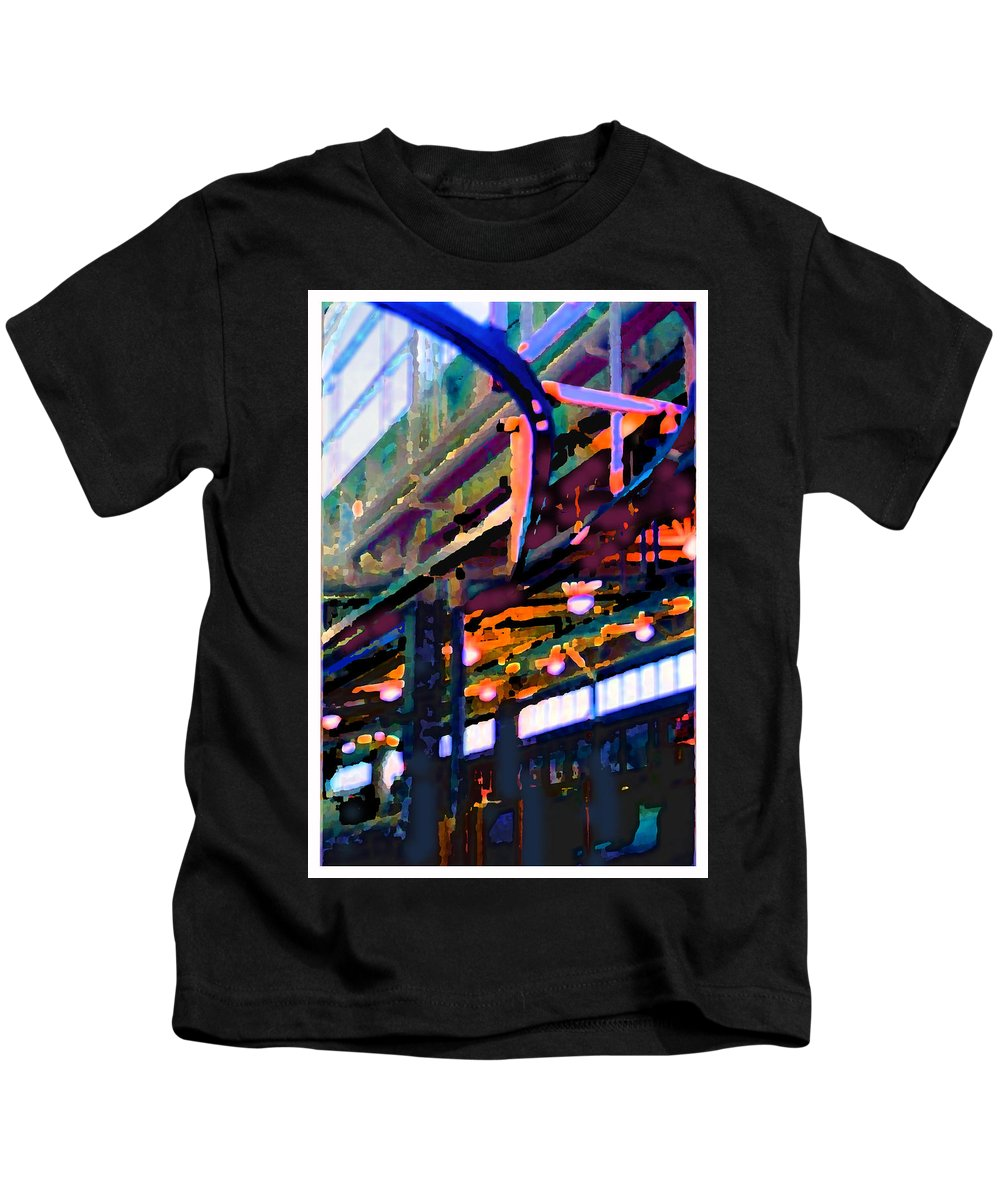 Abstract Kids T-Shirt featuring the photograph panel two from Star Factory by Steve Karol