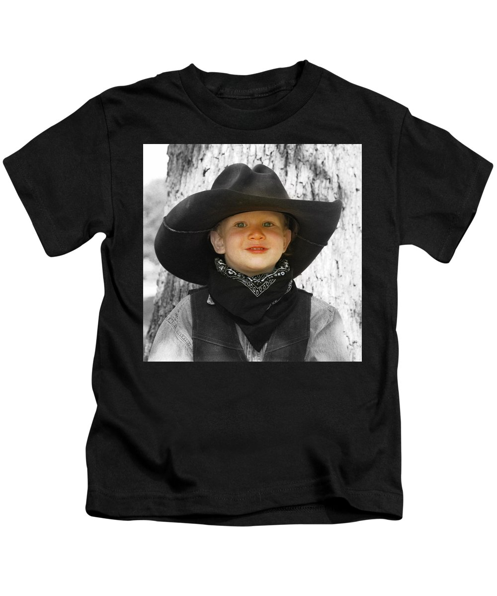 Hat Kids T-Shirt featuring the photograph Papa's Hat 2 by Cindy New