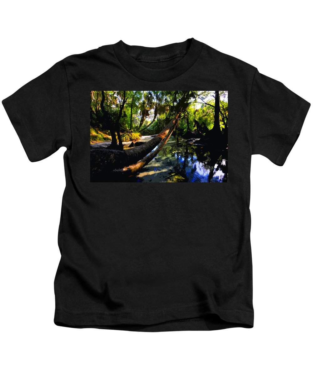 Paradise Kids T-Shirt featuring the painting Paradise Found by David Lee Thompson