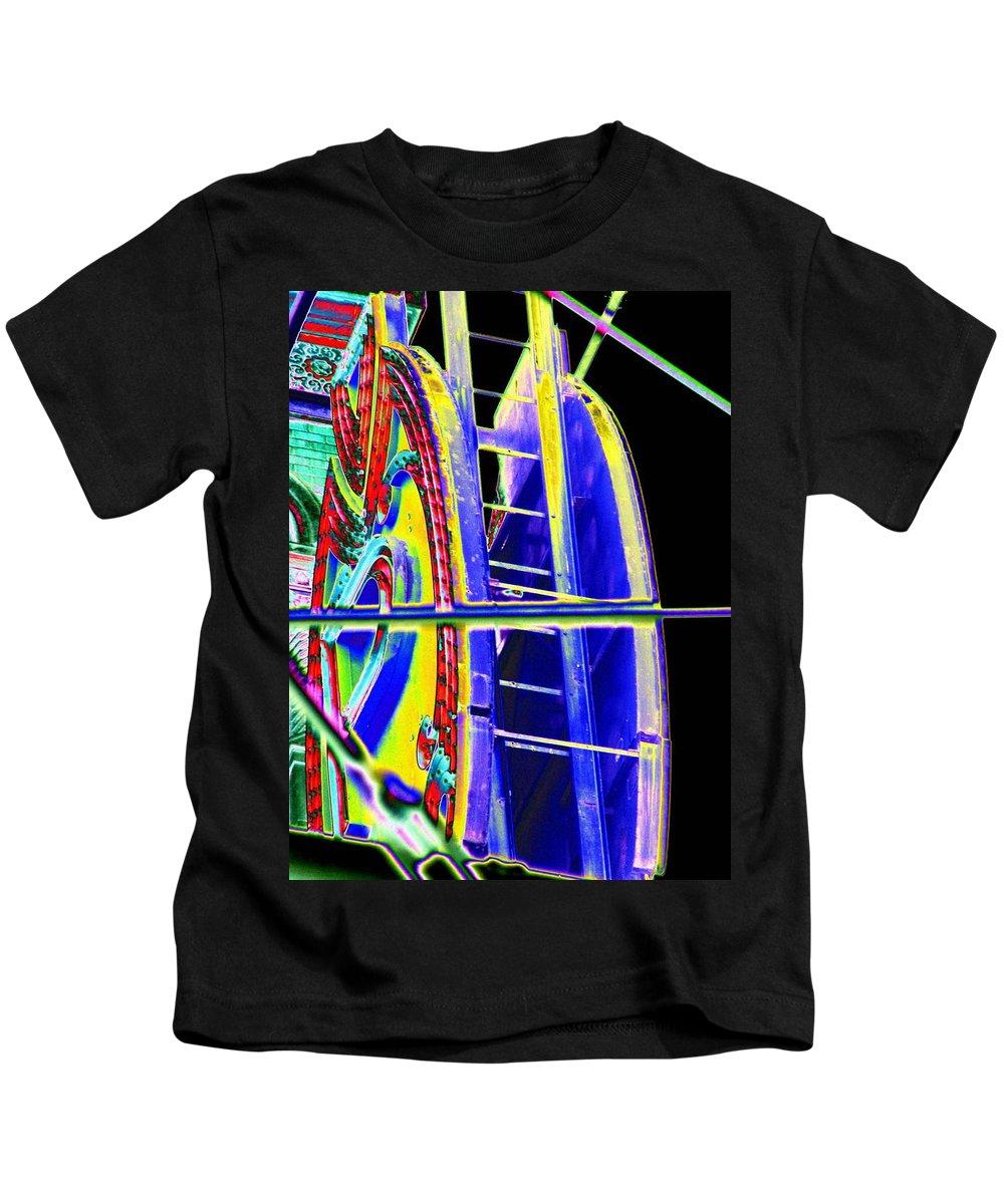 Seattle Kids T-Shirt featuring the digital art Paramount Theater Detail by Tim Allen