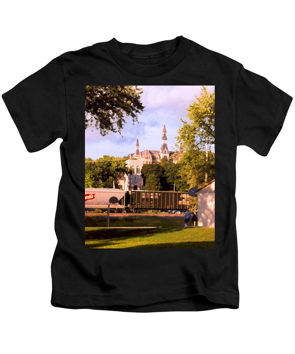 Landscape Kids T-Shirt featuring the photograph Park University by Steve Karol