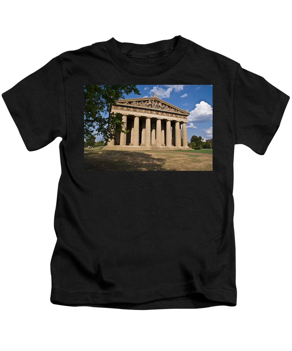 Parthenon Kids T-Shirt featuring the photograph Parthenon Nashville Tennessee by Douglas Barnett