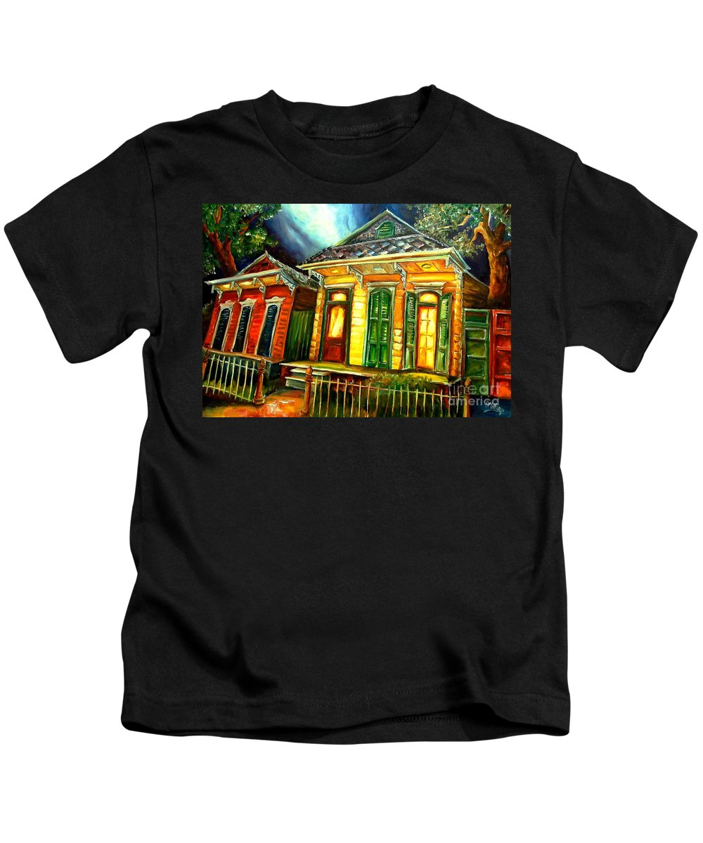 New Orleans Kids T-Shirt featuring the painting Partners by Diane Millsap