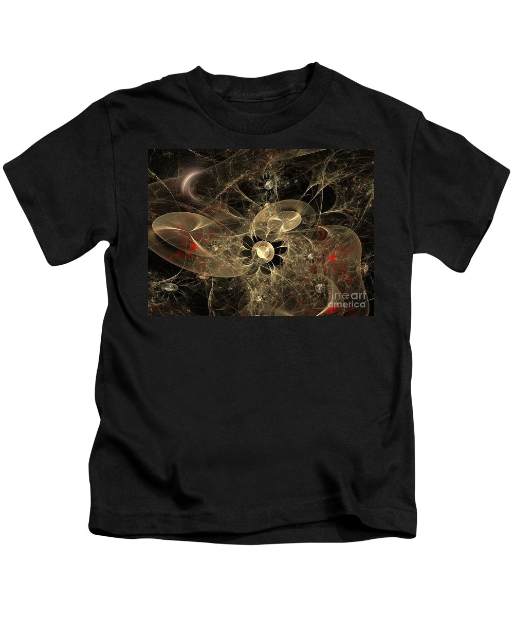 Apophysis Kids T-Shirt featuring the digital art Party Of The Universe by Deborah Benoit