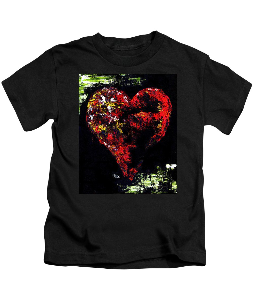 Heart Kids T-Shirt featuring the painting Passion by Hiroko Sakai