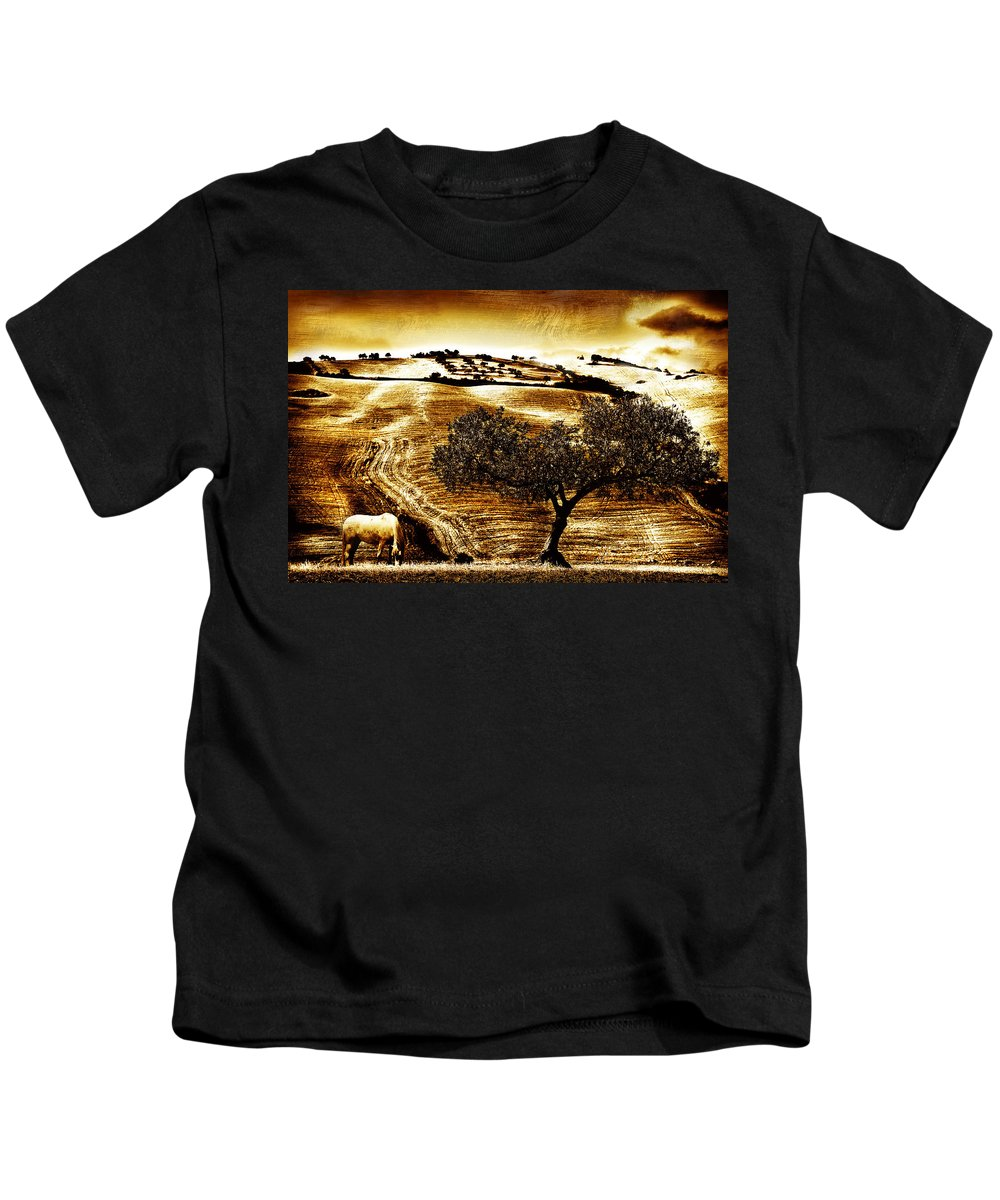 Landscape Kids T-Shirt featuring the photograph Pastelero Textures by Mal Bray