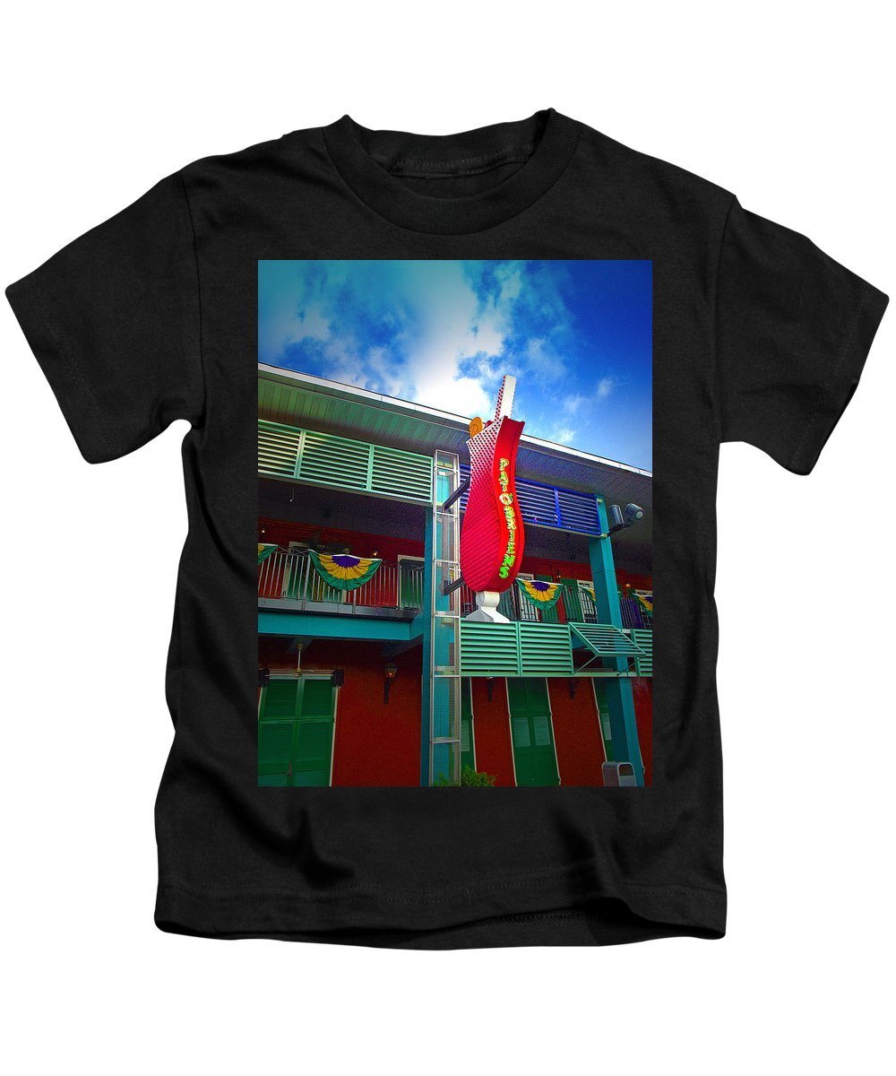Restaurant Kids T-Shirt featuring the photograph Pat O'briens by Gary Adkins