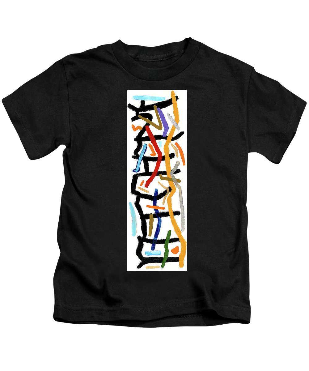 Abstract Kids T-Shirt featuring the painting Patchwork by Bjorn Sjogren
