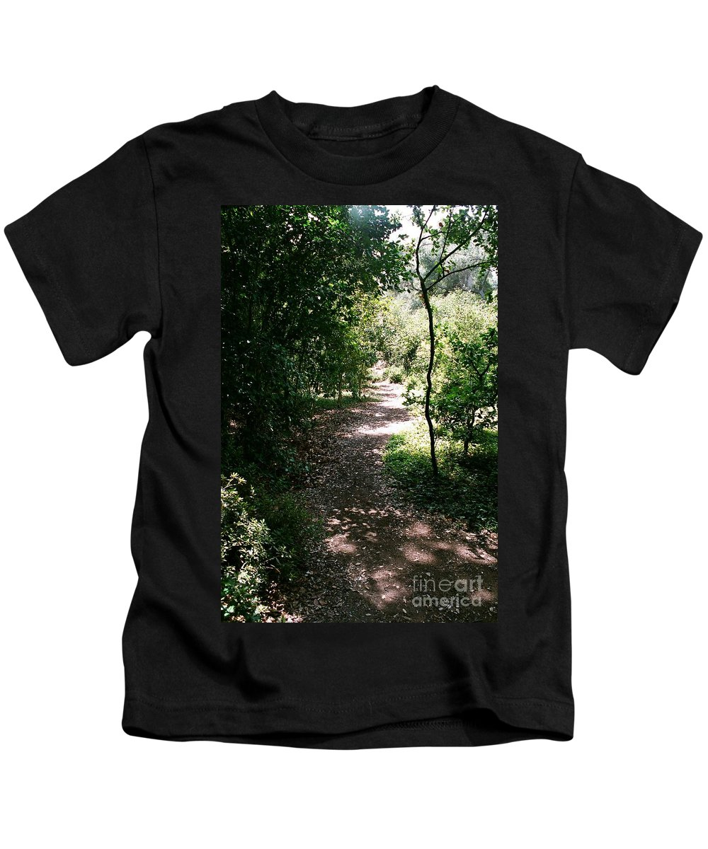Path Kids T-Shirt featuring the photograph Path by Dean Triolo